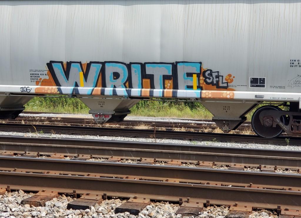 Graffiti on a train.