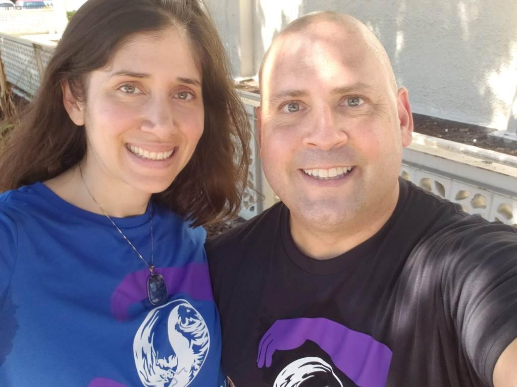 Chris Shelton and his wife Parisa.