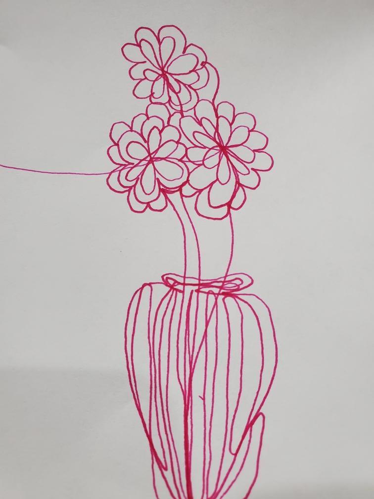 Flower in a vase doodle
