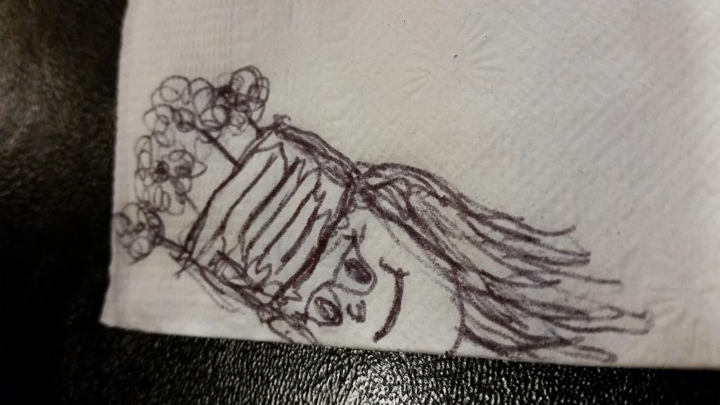 Doodle on a napkin